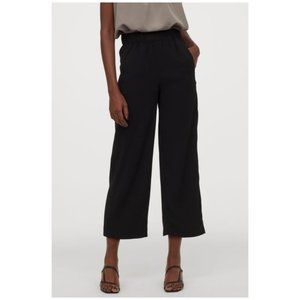 H&M Ruffle Waist Pocket Wide Leg Ankle Pants 10